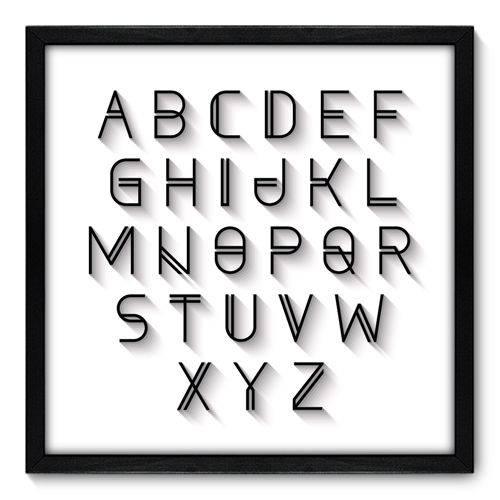 Quadro Decorativo - Alfabeto - N7086 - 50cm X 50cm