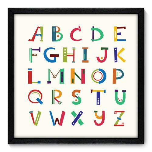 Quadro Decorativo - Alfabeto - N7087 - 50cm X 50cm