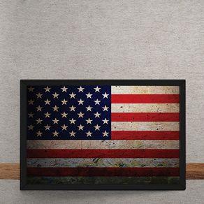 Quadro Decorativo Bandeira dos Estados Unidos 25x35