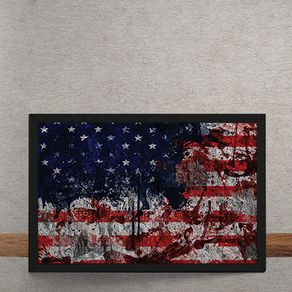 Quadro Decorativo Bandeira dos Estados Unidos Desconstruida 25x35