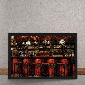 Quadro Decorativo Bar Guinness 25x35