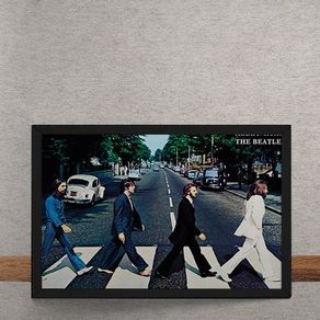 Quadro Decorativo Beatles Abbey Road 25x35