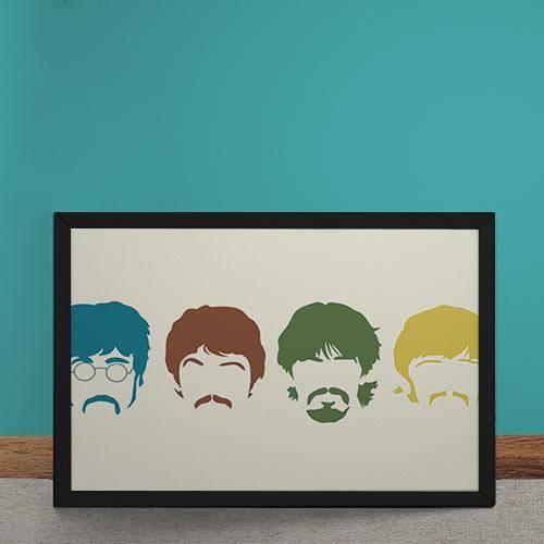 Quadro Decorativo Beatles Minimalista