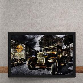 Quadro Decorativo Bentley Posto Shell 25x35
