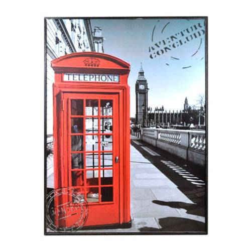 Quadro Decorativo Cabine Telephone 30x40 Cm
