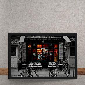 Quadro Decorativo Cafe Frances 25x35