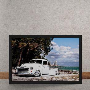 Quadro Decorativo Caminhonete Chevrolet Vintage 25x35