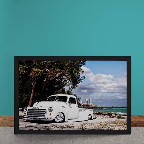 Quadro Decorativo Caminhonete Chevrolet Vintage