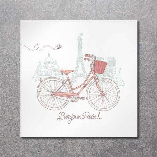 Quadro Decorativo Canvas Bike em Paris