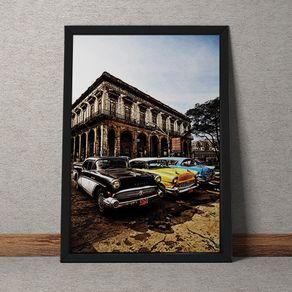 Quadro Decorativo Carros em Havana 35x25