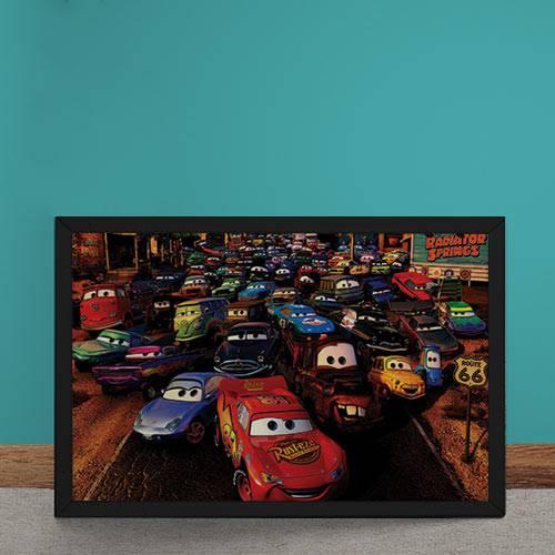 Quadro Decorativo Carros Filme Disney 2