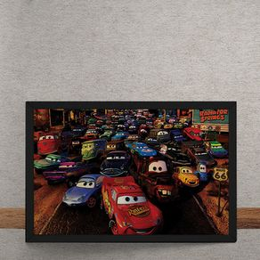 Quadro Decorativo Carros Filme Disney 2 25x35
