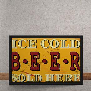 Quadro Decorativo Cerveja Gelada 25x35