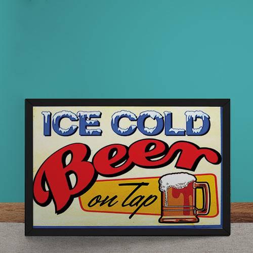 Quadro Decorativo Cerveja Gelada Retrô