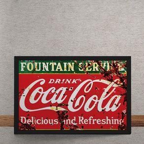 Quadro Decorativo Coca Cola Deliciosa e Refrescante Vintage 25x35