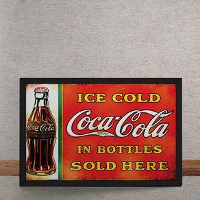 Quadro Decorativo Coca Cola Garrafas Vintage 25x35