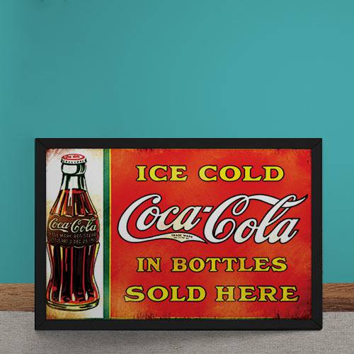 Quadro Decorativo Coca Cola Garrafas Vintage