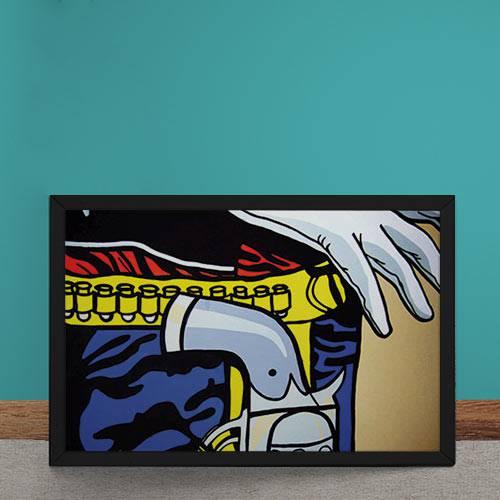 Quadro Decorativo Cowboy Pop Art