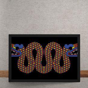 Quadro Decorativo Dragao Chines 25x35