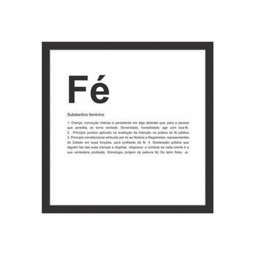 Quadro Decorativo Fé 27,5 Cm