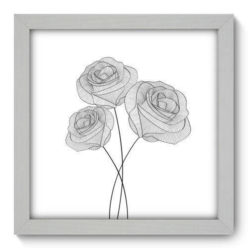 Quadro Decorativo - Flores - 22cm X 22cm - 027qnfab