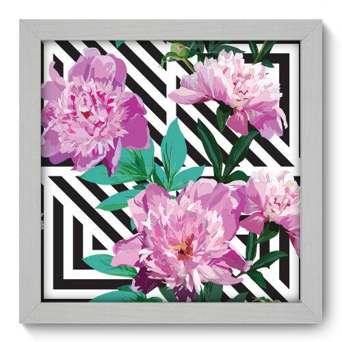 Quadro Decorativo Flores N1029 22cm X 22cm