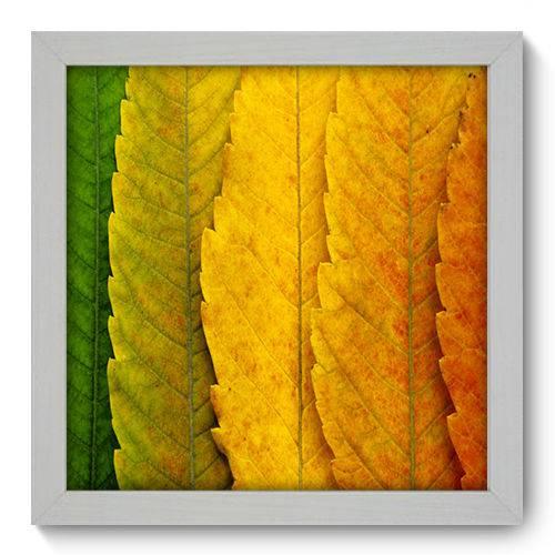 Quadro Decorativo Folhas N1034 22cm X 22cm