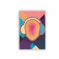 Quadro Decorativo - Fones de Ouvido Abstrato - Ps280