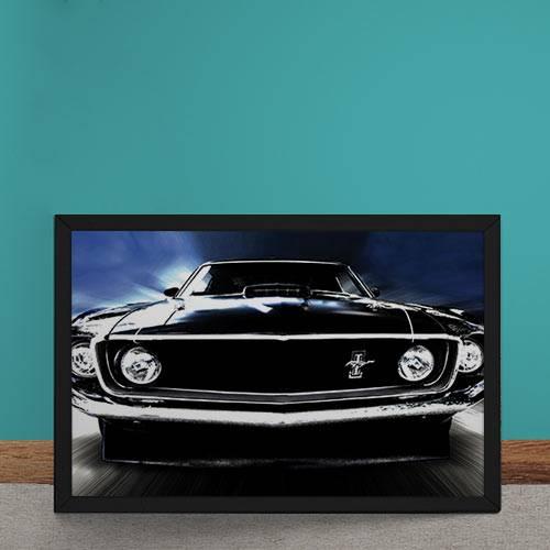 Quadro Decorativo Ford Mustang 1969