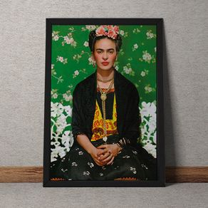 Quadro Decorativo Frida Kahlo 35x25