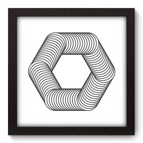 Quadro Decorativo - Geometria - 22cm X 22cm - 083qnaap