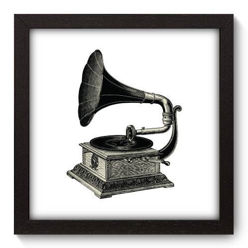 Quadro Decorativo Gramofone N5010 22cm X 22cm