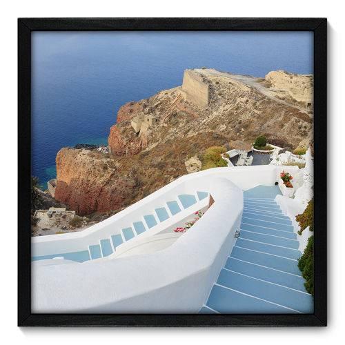 Quadro Decorativo - Grécia - 50cm X 50cm - 074qnmcp