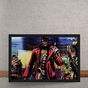 Quadro Decorativo Iron Maiden Ed Hunter Gangster 25x35
