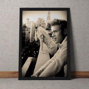 Quadro Decorativo James Dean Marilyn Monroe 35x25