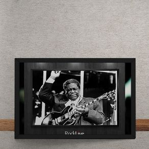 Quadro Decorativo King Of Blues BB King 25x35