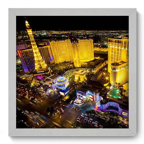 Quadro Decorativo - Las Vegas - 33cm X 33cm - 042qnmbb