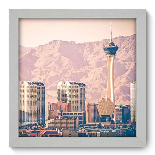 Quadro Decorativo - Las Vegas - 22cm X 22cm - 061qnmab