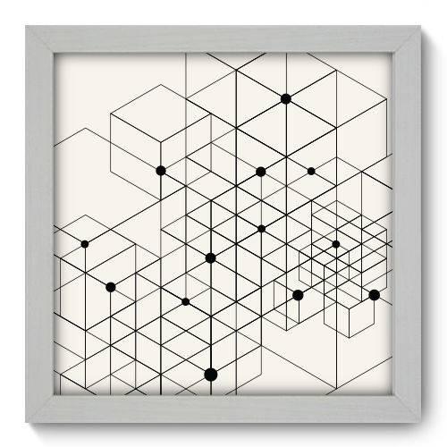 Quadro Decorativo - Linhas - 22cm X 22cm - 052qnaab
