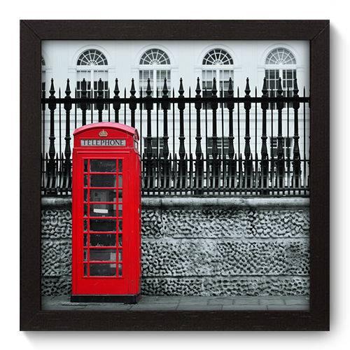 Quadro Decorativo - Londres - 22cm X 22cm - 054qnmap