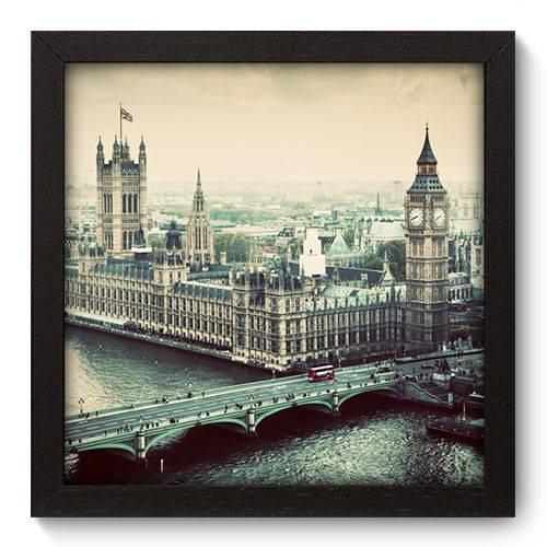 Quadro Decorativo - Londres - 22cm X 22cm - 082qnmap