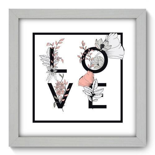 Quadro Decorativo - Love - 22cm X 22cm - 007qnrab