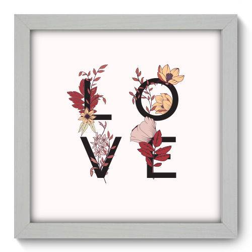 Quadro Decorativo - Love - 22cm X 22cm - 008qnrab