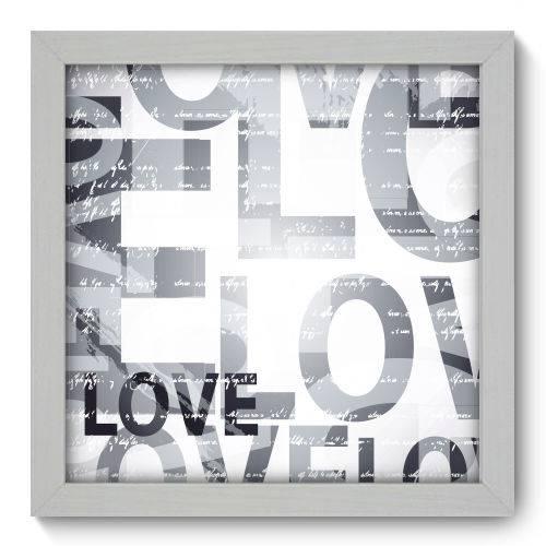 Quadro Decorativo - Love - 22cm X 22cm - 107qndab