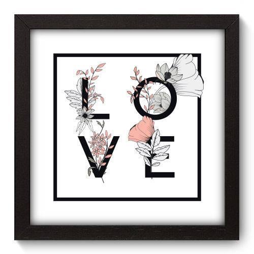 Quadro Decorativo Love N5007 22cm X 22cm