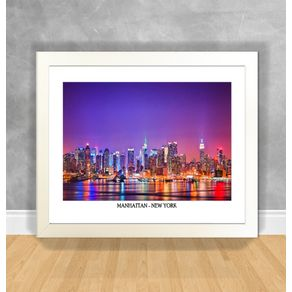 Quadro Decorativo Manhattan - New York Nova York 30 Branca