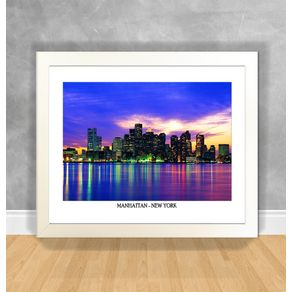 Quadro Decorativo Manhattan - New York Nova York 34 Branca