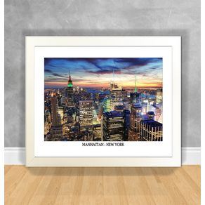 Quadro Decorativo Manhattan - New York Nova York 46 Branca