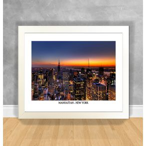 Quadro Decorativo Manhattan - New York Nova York 32 Branca