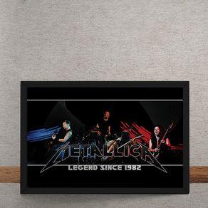 Quadro Decorativo Metallica 25x35